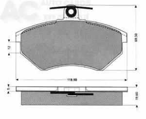 1011 TOMEX - KLOCKI HAMULCOWE AUDI, SEAT, VW     (GRUBOśĆ 19,6 MM)           $