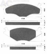 1014 TOMEX - KLOCKI HAMULCOWE SEAT CORDOBA 1.8,1.9/ VW  /GR.15.3MM/ CROSS !!!