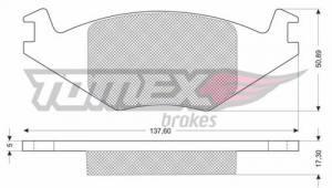 1015 TOMEX - KLOCKI HAMULCOWE SEAT IBIZA,CORDOBA /VW /GR.17.3MM/           $