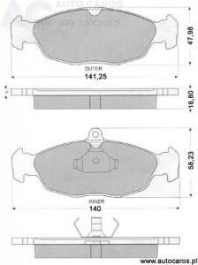 1049 TOMEX - KLOCKI HAMULCOWE OPEL ASTRA 1.4/1.6/1.7D                      $
