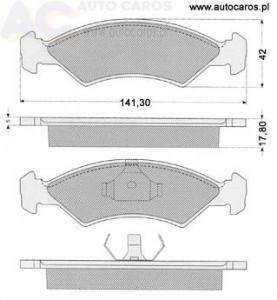 1084 TOMEX - KLOCKI HAMULCOWE FORD FIESTA 83-89 1.1/1.3/1.4 KLIKNIJ U !!!!!