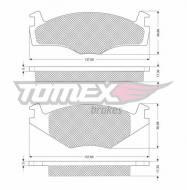 1014-1 TOMEX - KLOCKI HAMULCOWE SEAT CORDOBA 1,8-1,9 / VW   /GR.17.3MM/      $