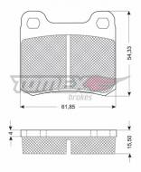1037-1 TOMEX - KLOCKI HAMULCOWE MERCEDES 124   15,5MM