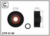 01-90 CAFFARO - ROLKA 70X26X17 PLASTIK                     3/C/6