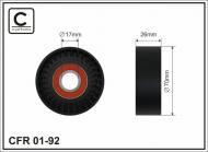 01-92 CAFFARO - ROLKA 70X26X17 PLASTIK                     3/C/6
