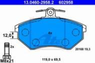 13.0460-2958.2 ATE - KLOCKI HAM. VW PASSAT 88-96 19MM