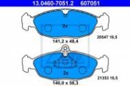 13.0460-7051.2 ATE - KLOCKI HAM. OPEL ASTRA F, CORSA B