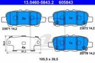13.0460-5843.2 ATE - KLOCKI HAM. NISSAN X-TRAIL 01- TYŁ