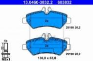 13.0460-3832.2 ATE - KLOCKI HAM. VW CRAFTER 06- TYŁ