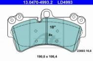 13.0470-4993.2 ATE - KLOCKI HAM. CERAMICZNE VW TOUAREG 02-