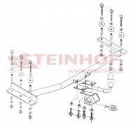 O-105 STEIN - Hak holowniczy OPEL ASTRA 91-98 odkręcan a kula /STEINHOF/