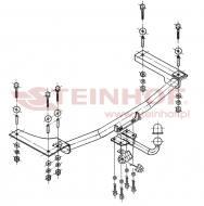 O-214 STEIN - Hak holowniczy OPEL VECTRA B 95-98 odkrę cana kula /STEINHOF/