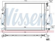 65017 NISSENS - CHŁODNICA SILNIKA VW