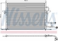 94189 NISS - Chłodnica klimy FORD MONDEO -96/NISSENS/