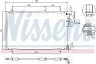 94855 NISS - Chłodnica klimy PEUGEOT 206 1.4-2.0HDI 02- /NISSENS/