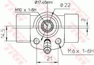 BWC107 TRW - CYLINDEREK HAM.TYLNY 101-608 Ů17.46 SYSTEM ATE