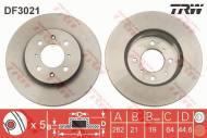 DF3021 TRW - TARCZA HAM. PRZEDNIA 1.6I 90-91,1.6I+ABS 91-> 1.4 96-> ┘262*