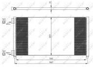 35496 NRF - CHŁODNICA KLIMATYZACJI Chłodnica klimy FIAT DOBLO 1.9 JTD 01- /NRF/