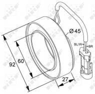 38420 NRF - Cewka kompresora 12V DELPHI CVC OPEL /NR F/