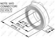 38447 NRF - Cewka kompresora 12V DENSO 10PA/7SB/7SBU /NRF/