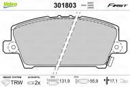301803 VALEO - KLOCKI HAMULCOWE KLOCKI HAM. HONDA CIVIC 2.0 PETROL/FUEL1/2007->/