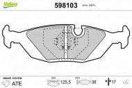 598103 VALEO - KLOCKI HAMULCOWE Klocki ham.BMW seria 3/7 -91 tył /VALEO//bez czuj./