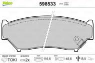 598533 VALEO - KLOCKI HAMULCOWE Klocki ham.SUZUKI VITARA 1.6 16V /VALEO/