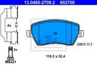 13.0460-2709.2 ATE - KLOCKI HAMULC. RENAULT CLIO III  05-