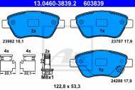 13.0460-3839.2 ATE - KLOCKI HAMULC. OPEL CORSA D  06-