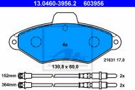 13.0460-3956.2 ATE - KLOCKI HAMULC. CITROEN XANTIA 93-01 Z CZ