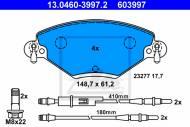 13.0460-3997 ATE - KLOCKI HAMULCOWE PRZOD C5