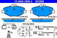 13.0460-3999.2 ATE - KLOCKI HAM. MERCEDES W211 E-KLASA 02-