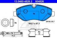 13.0460-4826.2 ATE - KLOCKI HAMULC. VW CRAFTER  06-