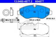 13.0460-4877.2 ATE - KLOCKI HAMULC. VW CRAFTER  06-