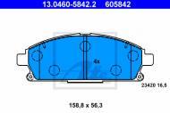 13.0460-5842.2 ATE - KLOCKI HAM. NISSAN X-TRAIL 01-