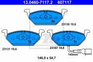 13.0460-7117.2 ATE - KLOCKI HAMULC. VW GOLF IV  97- Z CZUJ.