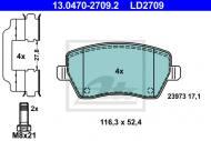 13.0470-2709.2 ATE - KLOCKI HAMULC. RENAULT CLIO III  05-