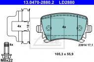 13.0470-2880.2 ATE - KLOCKI HAMULC. VW PASSAT 05- TYŁ