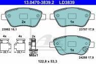 13.0470-3839.2 ATE - KLOCKI HAMULC. OPEL CORSA D  06-