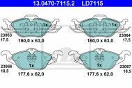 13.0470-7115.2 ATE - KLOCKI HAMULC. OPEL ASTRA G  98-04