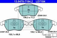 13.0470-7184.2 ATE - KLOCKI HAMULC. VW TOURAN 03- Z CZUJ.