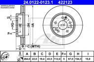 24.0122-0123.1 ATE - TARCZA HAMULC. MERCEDES W124  85-97 WEN.