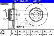 24.0122-0132.1 ATE - TARCZA HAM. MERCEDES W202 C-KLASA 93-00 WENT.