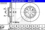 24.0124-0115.1 ATE - TARCZA HAMULC. OPEL ASTRA  91-00, VECTRA