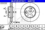 24.0125-0110.1 ATE - TARCZA HAM. MERCEDES W210 E-KLASA 95-02