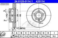 24.0125-0114.1 ATE - TARCZA HAM. VW SHARAN 95-01