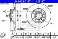 24.0125-0137.1 ATE - TARCZA HAM. AUDI A6 97-04