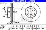 24.0128-0238.1 ATE - TARCZA HAM. IVECO DAILY III 06-