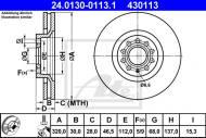 24.0130-0113.1 ATE - TARCZA HAMULCOWA TARCZA HAM./PRZ/ AUDI A4/A6/ALLROAD 00- 321X30