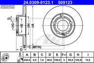 24.0309-0123.1 ATE - TARCZA HAM. POWER DISC SKODA OCTAVIA 96- TYŁ